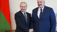 Zwei Machthaber, ein Gedanke: Sowohl in Russland als auch in Belarus ist die Pressefreiheit eingeschränkt.