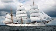 """Das Schulschiff der Marine, die """"Gorch Fock"""", im Jahr 2008"""