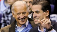 Der ehemalige amerikanische Vizepräsident und demokratischer Präsidentschaftsanwärter Joe Biden mit seinem Sohn Hunter