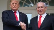 Verstehen sich prächtig: Präsident Trump und Regierungschef Netanjahu