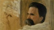 Nietzsche auf dem Krankenlager, Ölskizze von Hans Olde, 1899