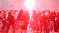 Bei den Protesten gegen die Corona-Maßnahmen am Montag in Mailand kam es zu Ausschreitungen.