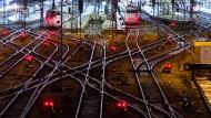 ICE-Züge stehen am Münchner Hauptbahnhof