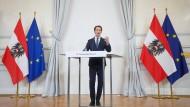 Sebastian Kurz erklärt am 9. Oktober in Wien seinen Rücktritt als österreichischer Bundeskanzler