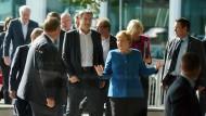 Kabinettsmitglieder nach der Sitzung des Klimakabinetts Ende September