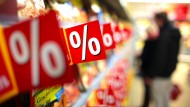Im Supermarkt gibt es wieder mehr Rabattaktionen.