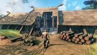 """Trautes Heim, Glück allein: Mit einer Werkbank, einer Axt, etwas Kreativität und genug Holz lässt sich im Videospiel """"Valheim"""" schon ein ordentliches Langhaus bauen."""