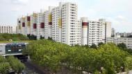 Wohnungen der Wohnungsbaugesellschaft GESOBAU im Märkischen Viertel im Bezirk Reinickendorf.