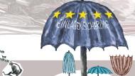 Ein großer Schirm für viele kleine Schirme
