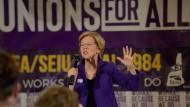 Die demokratische Präsidentschaftsbewerberin Elizabeth Warren bei einer Wahlkampfveranstaltung