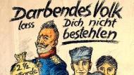 Plakat zum Volksbegehren über die Fürstenenteignung, Entwurf: H. J. (Monogramm), Leipzig, 1926