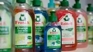 Das Unternehmen Werner & Mertz mit der Haushaltswarenmarke Frosch zählt zu den Recycling-Vorreitern.