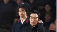 Jiang Qing, letzte Ehefrau Maos, während des Prozesses im Jahr 1980