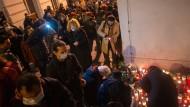 Am Tatort des Anschlags in Wien, 4. November 2020