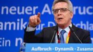Geht mit seiner eigenen Regierung hart ins Gericht: der frühere Bundesinnenminister Thomas de Maizière (CDU)