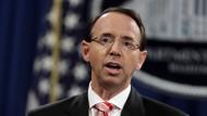 Hat er ein Komplott gegen Donald Trump geplant? Amerikas stellvertretender Justizminister Rod Rosenstein.