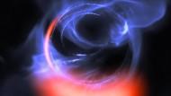 Simulation des beschleunigten Gases am Rande des Schwarzen Lochs