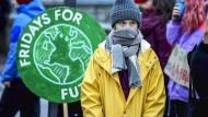 Ist das Ihre Marke? Greta Thunberg nimmt am 20. Dezember 2019 an einer Demonstration in Stockholm teil.