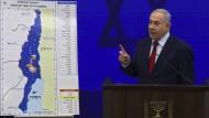 Der israelische Ministerpräsident Benjamin Netanjahu stellt seine Annexionspläne im Westjordanland vor.