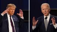 Amerikas Präsident Donald Trump und sein Herausforderer