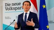 Bundeskanzler Sebastian Kurz (ÖVP) am Montag bei einer Pressekonferenz in Wien
