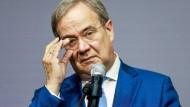 Der CDU-Vorsitzende Armin Laschet bei einer Pressekonferenz am 5. Oktober in Berlin