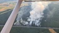 Blick aus einem Überwachungsflugzeug auf die A7