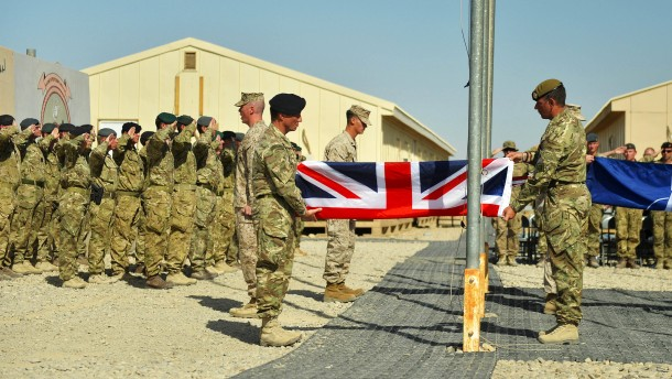 POIGNANT CEREMONY MARKS END OF UK COMBAT OPERATIONS IN HELMAND PROVINCE