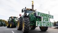 Brandenburger Bauern bei einer Protestaktion in Berlin
