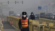 Kann nicht sonderlich gesundheitsfördernd sein: Smog in Peking