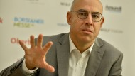 Gabriel Felbermayr (Direktor des ifo-Zentrums für Außenwirschaft ) während einer Pressekonferenz im September 2018 in Wien