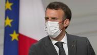 Emmanuel Macron im Juli in Paris