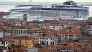 Kreuzfahrtschiff auf dem Canale della Giudecca: So ein Spektakel soll es in Venedig künftig nicht mehr geben.