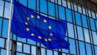 Flagge der Europäischen Union in Brüssel
