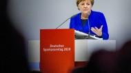 Bundeskanzlerin Angela Merkel beim 26. Deutschen Sparkassentag.