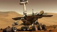 """Der rund 185 Kilo schwere, sechsrädrige Rover """"Opportunity"""""""