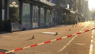 Nürnberg: Polizisten am Sonntag am Tatort in der Innenstadt
