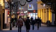 Die Fußgängerzone der Düsseldorfer Innenstadt
