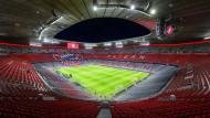 Leeres Haus: Das Stadion des FC Bayern München, hier allerdings aufgenommen vor einer Partie am 13. März 2019