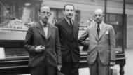 Gershom Scholem (Mitte) mit seinen im Jahr zuvor nach Kanada emigrierten Brüdern Erich und Reinhold im Sommer 1939 in Montreal.
