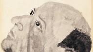 Lauschend: Arnold Schönberg, Selbstporträt vom 30. Dezember 1935, Aquarell