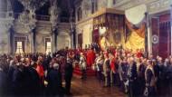 150 Jahre Kaiserreich: Ein Gemälde zur Reichsgründung
