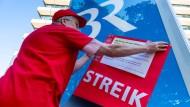 Unmissverständlich: Aufruf zum Streik beim Bayerischen Rundfunk.