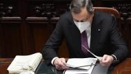 Mario Draghi seit dem 13. Februar 2021 italienischer Ministerpräsident.