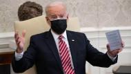 Joe Biden am 17. Februar im Oval Office in Washington