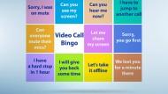 Vorlage für das Videokonferenz-Bingo