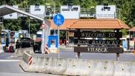 Die amerikanischen Rose Barracks in Vilseck in Bayern