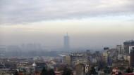 Smog über der serbischen Hauptstadt Belgrad am 7. Dezember 2018