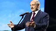 Lukaschenka am Donnerstag auf einem Frauenforum in Minsk.