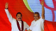 Mahinda Rajapaksa und Gotabaya Rajapaksa im August 2019 in Colombo